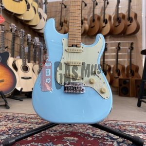 Schecter Traditional Route 66 Chicago S/S/S, Roasted Maple Fingerboard, Sugar Paper Blue (VALUTIAMO PERMUTE), Gas Music Store - Permute on line